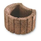 Jardinière Mini béton 28x35x20 cm brun