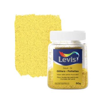 Levis Glitters voor muurverf goud 50gr