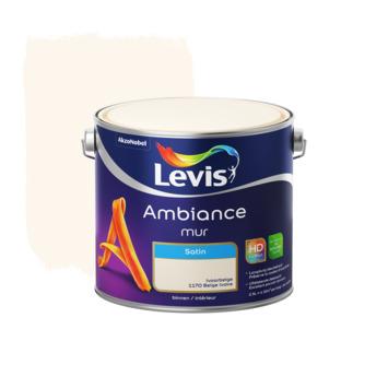 Peinture Ambiance Mur Levis satin beige ivoire 2,5 L