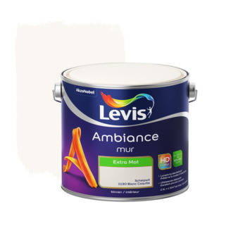 Peinture Ambiance Mur Levis extra mat blanc coquille 2,5 L