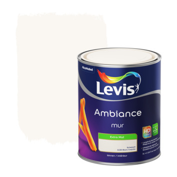 Peinture Ambiance Mur Levis extra mat blanc coquille 1 L