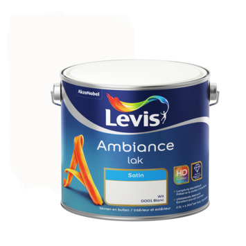 Laque Levis Ambiance satin 2,5 L blanc