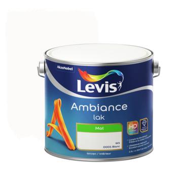 Laque Levis Ambiance mat 2,5 L blanc