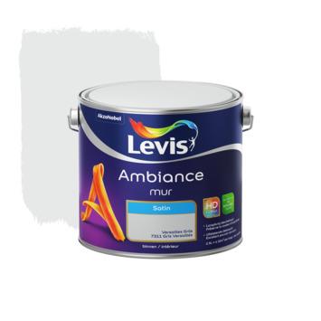 Peinture Ambiance Mur Levis satin gris Versailles 2,5 L