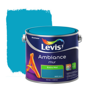 Peinture Ambiance Mur Levis extra mat azure 2,5 L