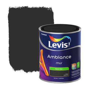 Peinture Ambiance Mur Levis extra mat noir 1 L