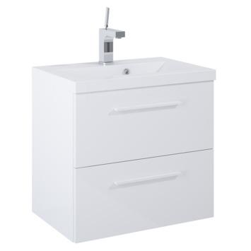 Meuble de salle de bains Alice Atlantic blanc 60 cm