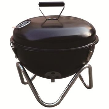 Barbecue de table avec grill noir chromé