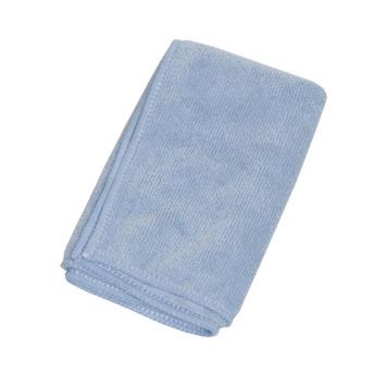 Chiffon de nettoyage en microfibres bleu