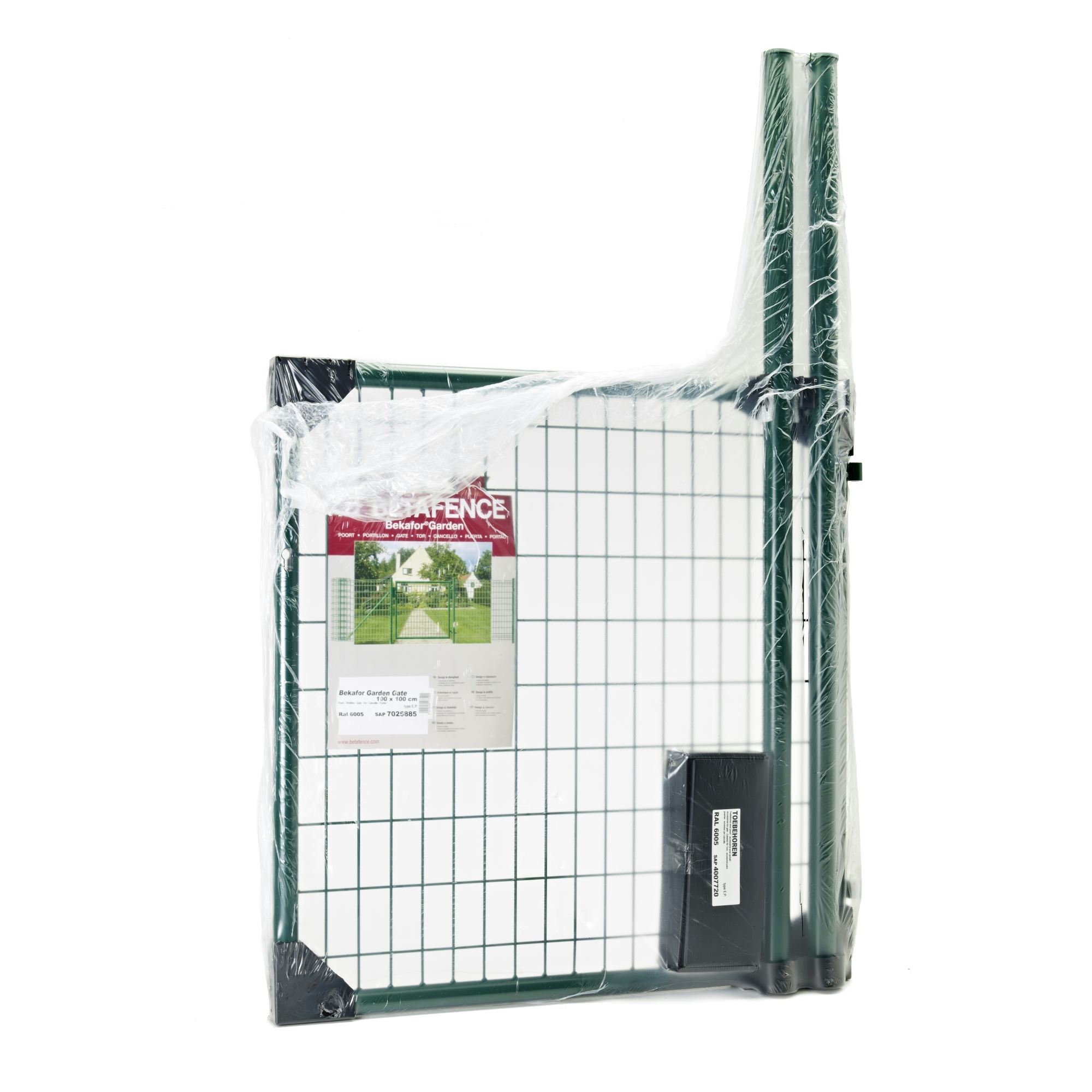 Portillon de jardin bekafor betafence 100x150 cm vert for Portillon de jardin metal vert