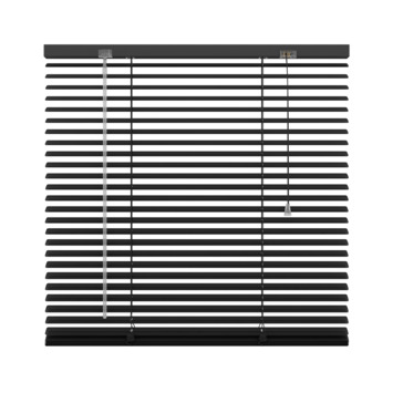 GAMMA horizontale jaloezie aluminium 25 mm 320 mat zwart 140x180 cm
