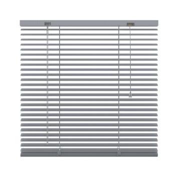 GAMMA horizontale jaloezie aluminium 25 mm 5014 zilver geperforeerd 100x180 cm