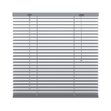 GAMMA horizontale jaloezie aluminium 25 mm 5014 zilver geperforeerd 180x180 cm