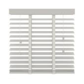 Store vénitien GAMMA 944 bois 50 mm blanc 140x180 cm
