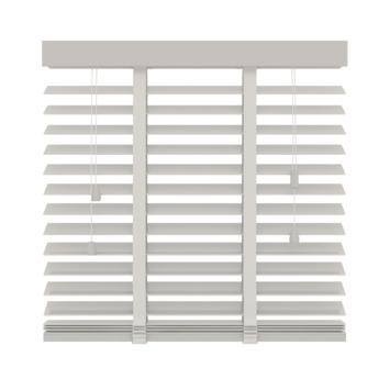 Store vénitien en bois GAMMA 50 mm 944 blanc 120x220 cm