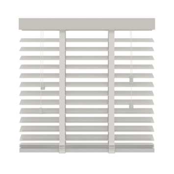Store vénitien en bois GAMMA 50 mm 944 blanc 140x220 cm