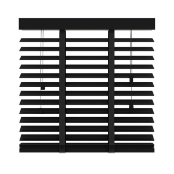 GAMMA horizontale jaloezie hout 50 mm 947 zwart 80x180 cm