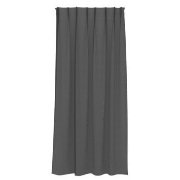Rideau ruban fronceur GAMMA transparent 1152 noir 140x280 cm