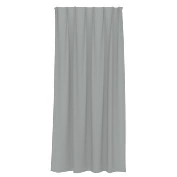 Rideau ruban fronceur GAMMA uni 1157 gris 140x180 cm