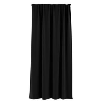GAMMA kant en klaar gordijn plooiband verduisterend 1167 zwart 140x180 cm