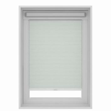 Store plissé pour fenêtre de toit GAMMA 7100 blanc 78x118 cm