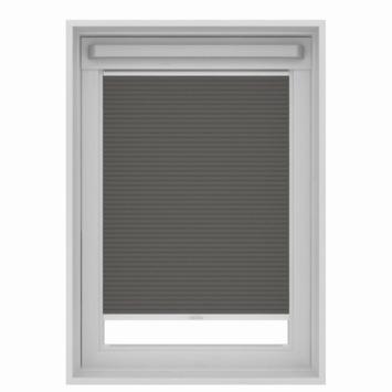 Store plissé pour fenêtre de toit GAMMA 7101 gris 134x98 cm