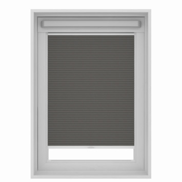 Store plissé pour fenêtre de toit GAMMA 7101 gris 78x140 cm
