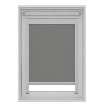 Store enrouleur pour fenêtre de toit Fakro occultant GAMMA7004 gris 114x118 cm