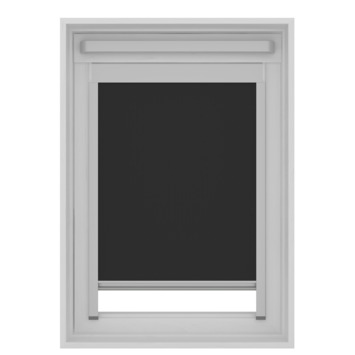 Store enrouleur pour Velux skylight new generation tamisant GAMMA 7005 noir CK02 55x78 cm