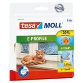 Tesa Moll tochtstrip classic e profiel 8jr, 6m wit