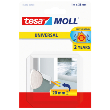 Bas de porte Tesa Moll Universal 2ans 20 mm blanc