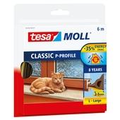 Tesa Moll tochtstrip classic p profiel 8jr, 6m bruin