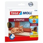 Tesa Moll tochtstrip classic d profiel 8jr, 6m bruin