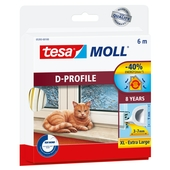 Tesa Moll tochtstrip classic d profiel 8jr, 6m wit