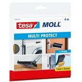 Tesa Moll tochtstrip multi protect 4m, 20mm:5mm zwart