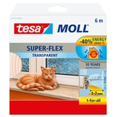 Tesa Moll isolation superflex silicone 10ans, 6m transparent