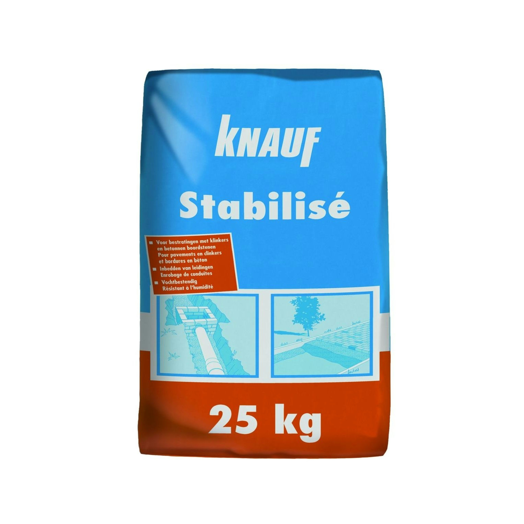 knauf stabilis 25 kg sable mat riaux agr gats. Black Bedroom Furniture Sets. Home Design Ideas