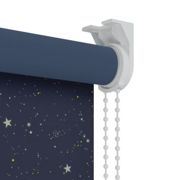 Store enrouleur occultant à motif GAMMA 1449 étoile bleu foncé 60x190 cm