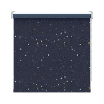 GAMMA rolgordijn dessin verduisterend 1449 donkerblauw ster 150x190 cm