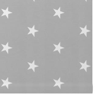 GAMMA rolgordijn dessin verduisterend 3579 grijs witte sterren 120x190 cm