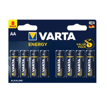 VARTA Energy alkalinebatterijen AA 8 stuks