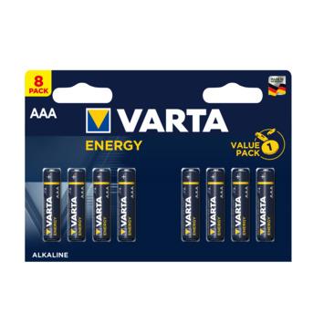 VARTA Energy alkalinebatterijen AAA 8 stuks