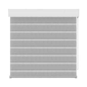 Store ajouré structuré GAMMA 4312 blanc/gris 60x160 cm