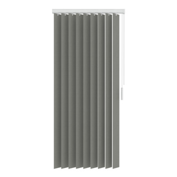 GAMMA verticale lamelset kunststof 89 mm5750 grijs 150x180 cm