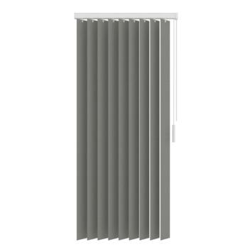 GAMMA verticale lamelset kunststof 89 mm5750 grijs 250x180 cm