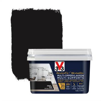 V33 Multi Renovatieverf zwart 500 ml