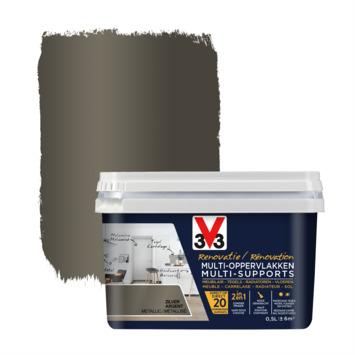 V33 Multi Renovatieverf zilver 500 ml