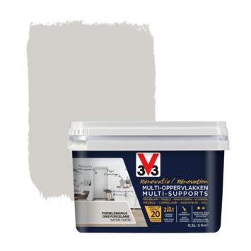 V33 Multi Renovatieverf porselijn grijs 500 ml