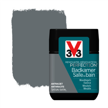 V33 Renovatieverf Badkamer antraciet tester 75 ml