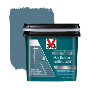V33 Renovatieverf Badkamer diepblauw 750 ml